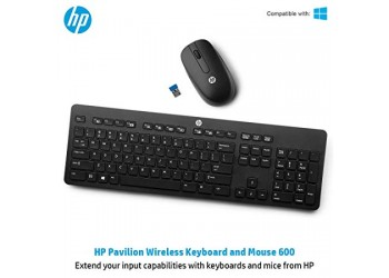HP Pavilion 600 Wireless Keyboard and Mouse Combo (Black)