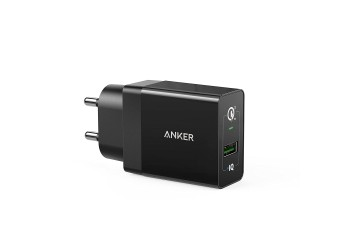 Anker PowerPort+ QC 3.0 (MI-Certified) USB Wall Charger for Galaxy S7/S6/Edge/Plus, Note 5/4, LG G4, HTC One A9/M9, Nexus 6, iPhone, iPad and More with 18 Months Warranty (Black)