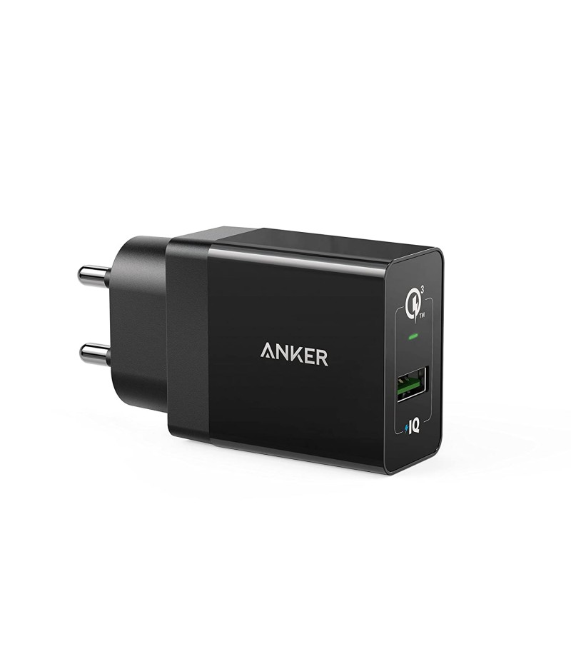 Anker PowerPort+ QC 3.0 (MI-Certified) USB Wall Charger for Galaxy S7/S6/Edge/Plus, Note 5/4, LG G4, HTC One A9/M9, Nexus 6, iPhone, iPad and More with 18 Months Warranty (Black)-M000000000454 www.mysocially.com