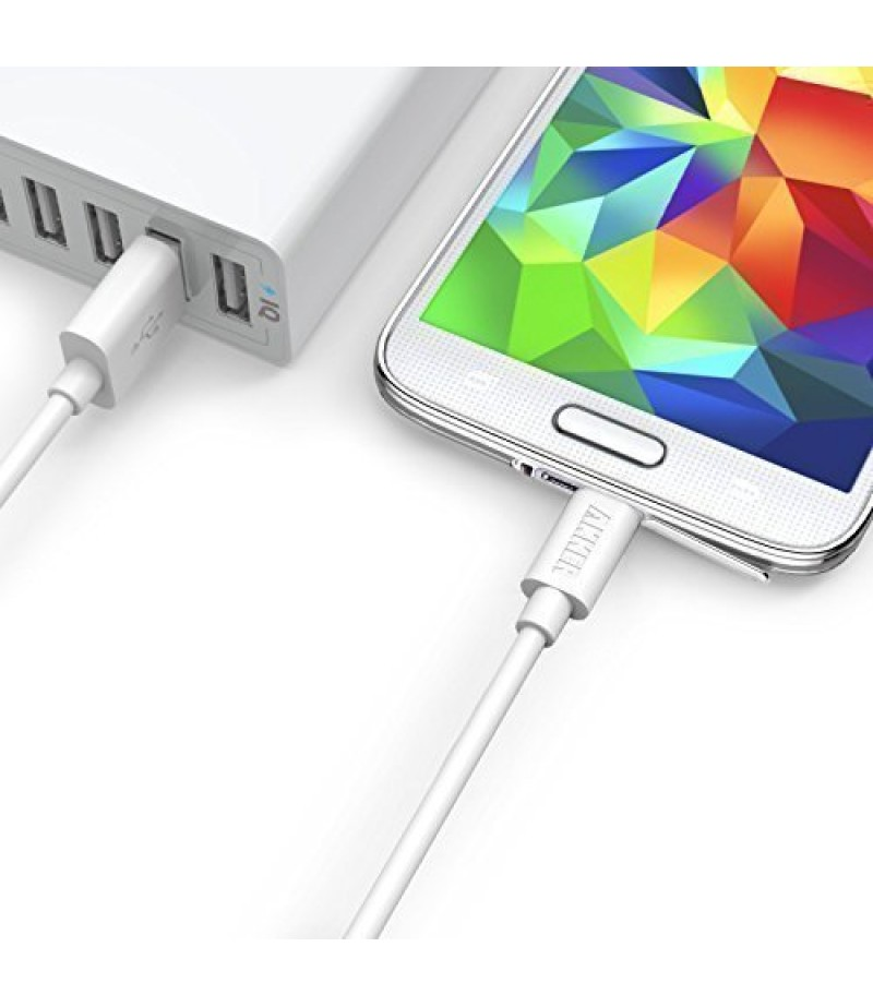 Anker 24W Dual USB PowerDrive 2 Car Charger with 3ft Micro USB to USB Cable, in White shade-M000000000450 www.mysocially.com