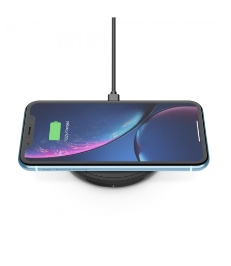 BOOST↑UP™ Wireless Charging pad 10W Compatible with iPhone 12 Mini & 12, 12 Pro & Pro Max, Samsung Galaxy Note10/Note10Plus/S10/S10Plus/S10E and More - Black