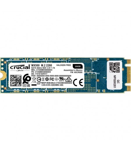 Crucial MX500 250GB 3D NAND M.2 2280 Internal Solid State Drive (SSD)