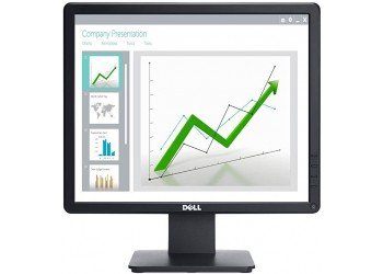 Dell 17 inch (43.2 cm) LED Backlit Computer Monitor - HD, TN Panel with VGA, Display Ports - E1715S (Black)