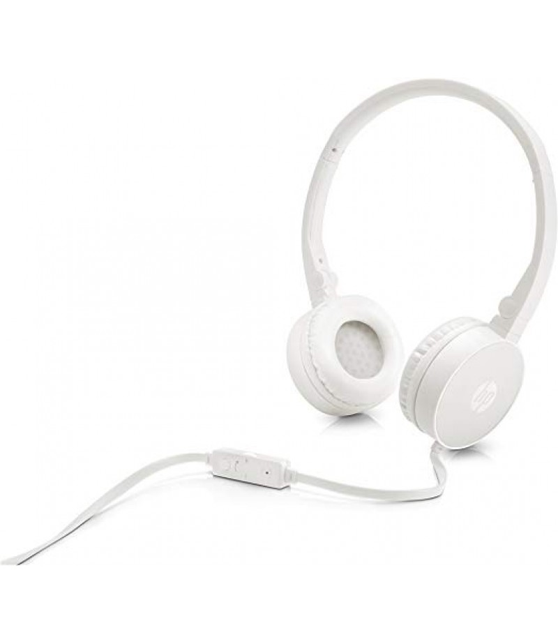 HP H2800 Headset Stereo Headset with Mic (White)-M000000000214 www.mysocially.com