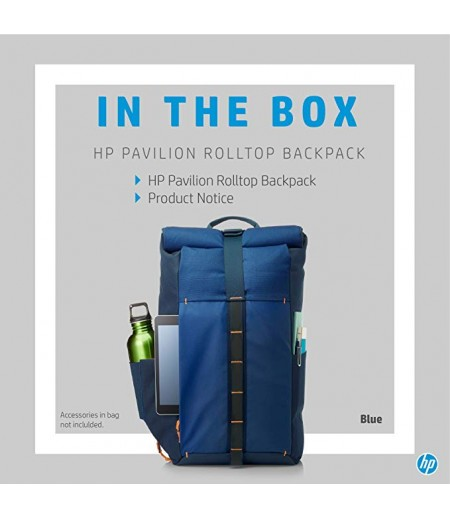 HP Pavilion Rolltop Blue Backpack (5EE88AA)-M000000000169 www.mysocially.com
