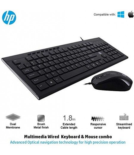 HP Slim Multimedia USB Wired Keyboard and Mouse Combo (4SC13PA)-M000000000200 www.mysocially.com