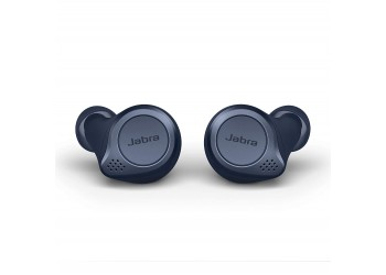 Jabra Elite Active 75t Earbuds, Alexa Enabled,  Compact, Waterproof, dust and sweat resistant, True Wireless Earbuds with Charging Case - Navy