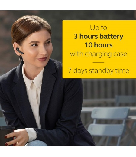 Jabra Talk 55 Bluetooth Headset for HD Hands-Free Calls with Dual Mic Noise Cancellation, Touch Controls and Portable Carrying Case-M000000000420 www.mysocially.com