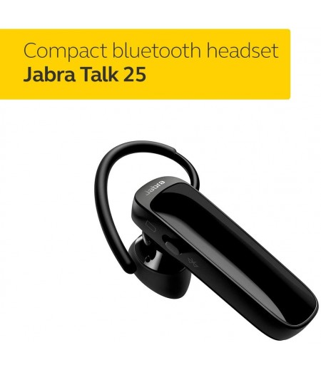 Jabra Talk 25 Bluetooth Headset for HD Hands-Free Calls with Clear Conversations and Streaming Multimedia - Black-M000000000424 www.mysocially.com