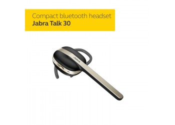 Jabra Talk 30 Bluetooth Headset  with HD calls and dynamic speakers for stream music, podcast and GPS directions - Black