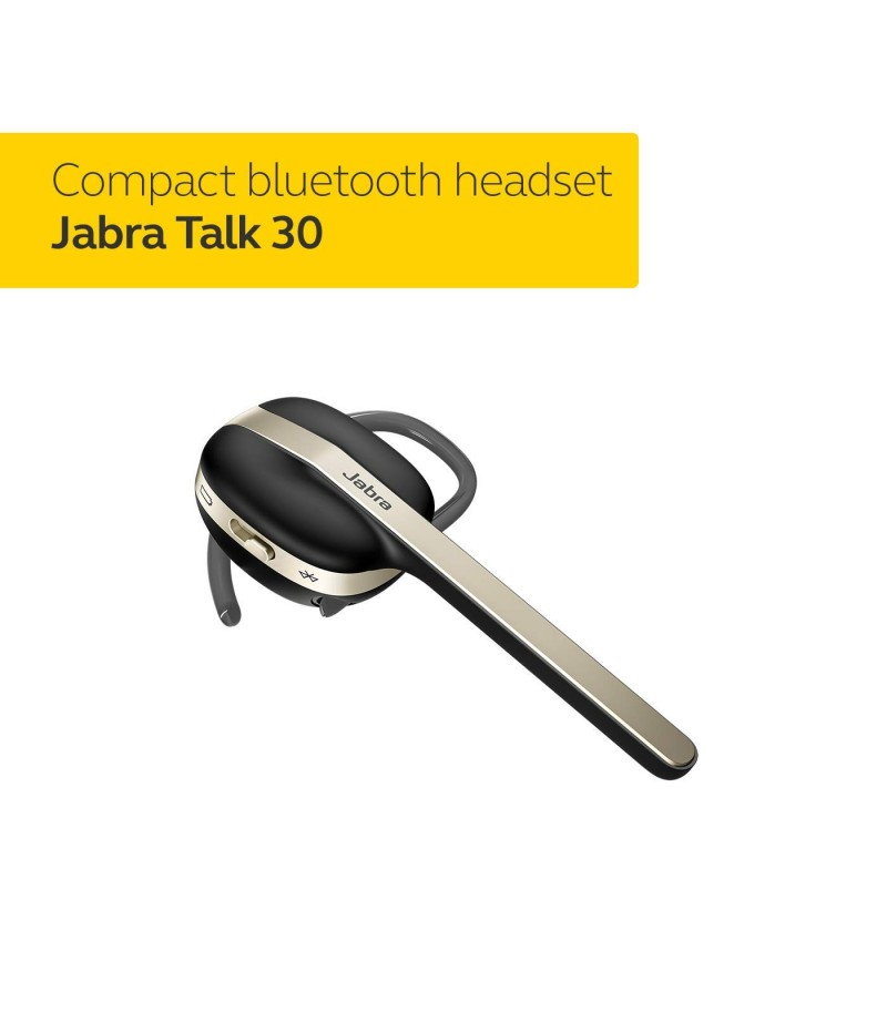 Jabra Talk 30 Bluetooth Headset  with HD calls and dynamic speakers for stream music, podcast and GPS directions - Black-M000000000422 www.mysocially.com