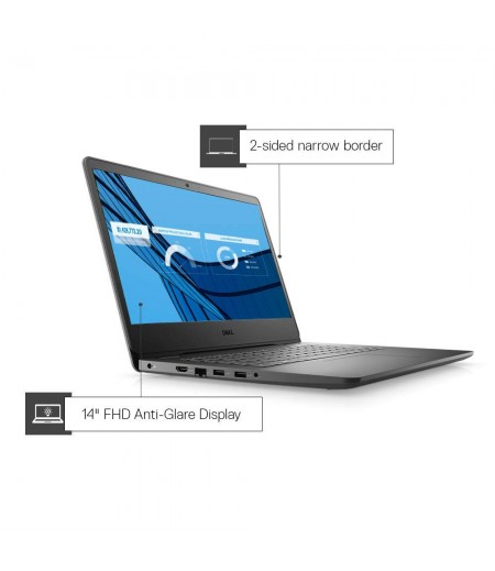 Dell Vostro 3401 14inch FHD AG Display Laptop (10th gen i3-1005G1 / 4GB / 256GB SSD / Integrated Graphics / 1 yr NBD Warranty/ Win 10 + MS Office H&S 2019 / Black)-M000000000520 www.mysocially.com