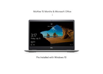 Dell Inspiron 5593 15.6-inch Laptop (10th Gen Core i5-1035G1/8GB/512GB SSD/Window 10 + Microsoft Office/2 GB NVidia MX 230 Graphics), Silver WITH BAG