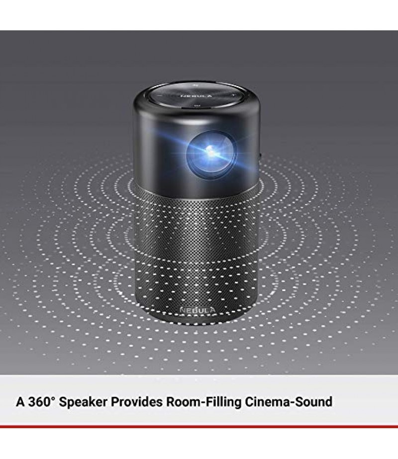 "Anker Smart Portable Pico Wifi Wireless Projector, High-Contrast Pocket Cinema, Dlp, 360° Speaker, 100"" Picture, Android 7.1, 4-Hour Video Playtime-M000000000244 www.mysocially.com"