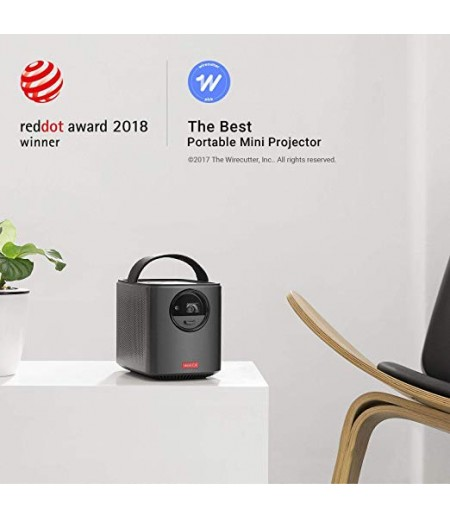 Nebula by Anker Mars II Portable Projector with 720p DLP Picture, Dual 10W Speakers, Android 7.1, 1 Second Auto-Focus, 30–150 in Screen, 4-Hour Playtime, Broad Connectivity, and Wireless Screen Cast-M000000000245 www.mysocially.com