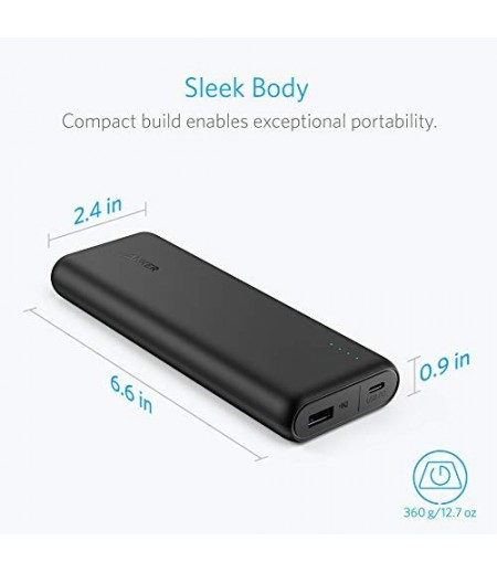 Anker PowerCore Speed 20000 PD, 20100mAh Portable Charger, Input & Output Type C Power Bank for Nexus 5 X 6P, LG G5, iPhone 8/X and Macbooks (Black)-M000000000236 www.mysocially.com