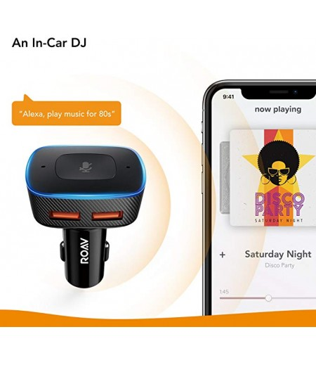 Roav Bolt, Google Assistant Enabled 2-Port USB Car Charger for Navigation, Hands-Free Calling, and Music. for Cars with Bluetooth/CarPlay/Android Auto/Aux-in/FM Reception-M000000000248 www.mysocially.com