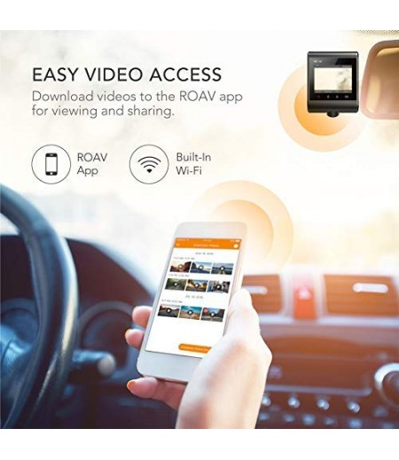 Roav by Anker Dash Cam C1, Car Recorder with Sony Sensor, 1080P FHD, 4-Lane Wide-Angle View Lens, Built-in WiFi with APP, G-Sensor, WDR, Loop Recording, Night Mode, Parking Mode [Upgraded Version]-M000000000235 www.mysocially.com
