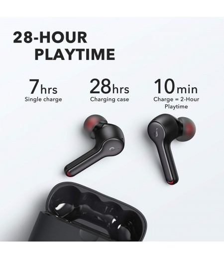 Soundcore Liberty Air 2 Wireless Earbuds, Diamond Coated Drivers, Bluetooth Earphones with 4 Mics, 28H Playtime, Noise Cancelling Earbuds, Wireless Charging- Black