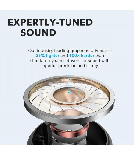Soundcore Anker Life P2 Wireless Earbuds with 4 Microphones, cVc 8.0 Noise Reduction, Graphene Drivers for Clear Sound, USB C, Waterproof, Wireless Earphones-M000000000465 www.mysocially.com