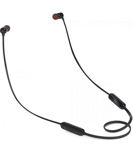 JBL T110BT Pure Bass Wireless in-Ear Headphones with Mic (Black)
