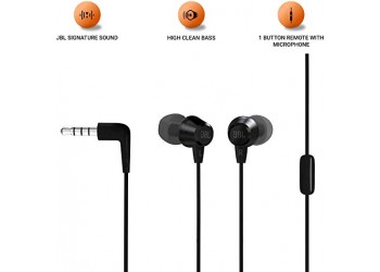 JBL C50HI in-Ear Headphones with Mic (Black)