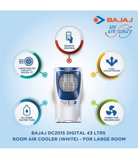 Bajaj DC 2015 ICON Digital Desert Air Cooler 43L in White/Blue shade-M000000000403 www.mysocially.com