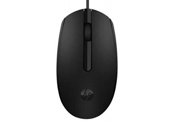 HP Retractable Wired Mouse (6GJ71AA) Wired Optical Mouse with USB 2.0 and Black color