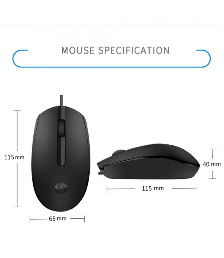 HP Retractable Wired Mouse (6GJ71AA) Wired Optical Mouse with USB 2.0 and Black color-M000000000399 www.mysocially.com