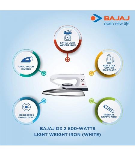 Bajaj DX 2 600-W Light Weight Dry Iron in Gray color-M000000000409 www.mysocially.com