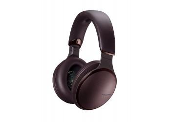 Panasonic RP-HD605NE-K Noise Canceling Headphones Wireless Bluetooth and Smartphone Siri / Google Voice Assistant Ear Headphones- Brown