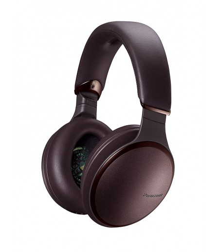 Panasonic RP-HD605NE-K Noise Canceling Headphones Wireless Bluetooth and Smartphone Siri / Google Voice Assistant Ear Headphones- Brown