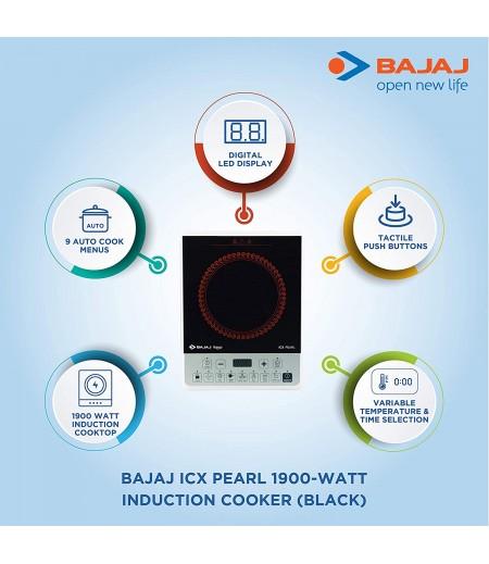 Bajaj ICX Pearl 1900-Watt Induction Cooker (Black)-M000000000394 www.mysocially.com