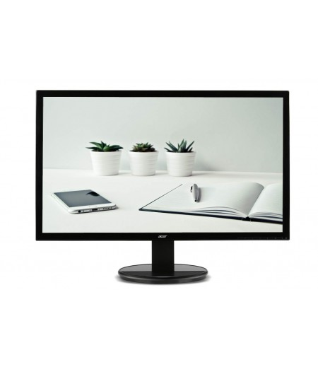 ACER 19.5-inch (49.53 cm) LED Backlit Computer Monitor with VGA Ports - K202HQL (Black)