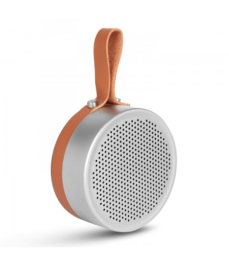 Klef X3 Metal Portable Wireless Bluetooth Speaker with Deep Bass and Mic (Silver)
