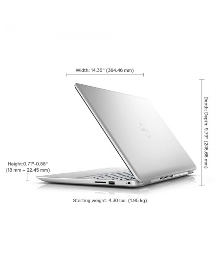 """Dell Inspiron 15 5584 (Core i5-8th Gen/ 8GB/ 2TB HDD/ 15.6"""" FHD/ Windows 10/2GB Nvidia Graphics/Backlit Keyboard) Thin and Light Laptop Silver-M000000000570 www.mysocially.com"""